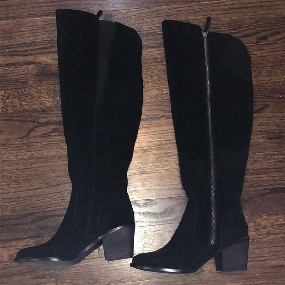7c1d36a701c Crown Vintage Shoes - Classic Black Suede Knee High Boots- Never Worn